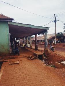 A street in Jinja, Uganda.