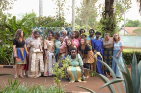 Helene is getting married! So we all got dressed up and went to her bridal shower. A bunch of the mamas from Amani came, too. It was such a special time.