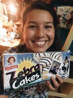 Zebra cakes sent from my sis, Eden!