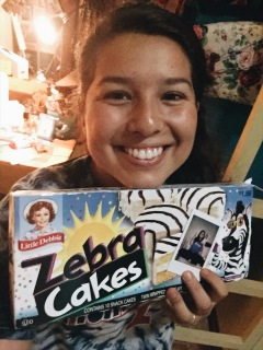 Zebra cakes sent from my sis, Eden!